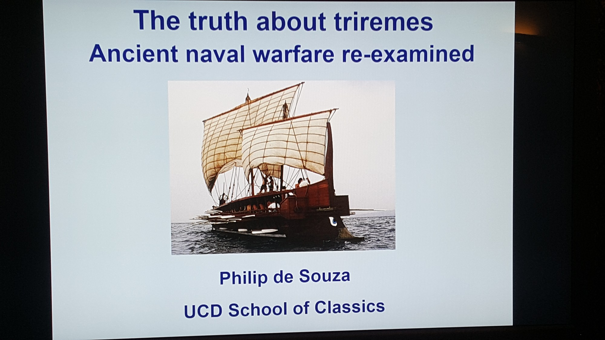 hight resolution of  the truth about triremes ancient naval warfare re examined dr philip de souza review the classical association in northern ireland