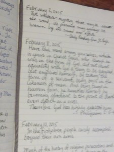 A page from my commonplace book.