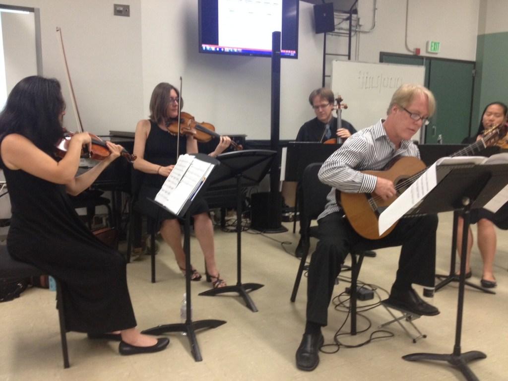 Kevin Garry and string quartet at GFA
