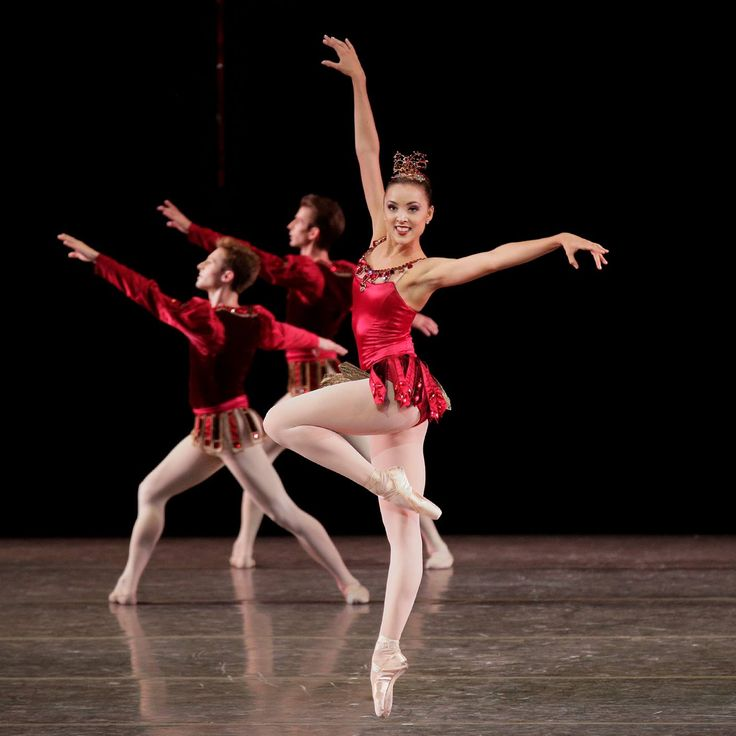 "Emily Kikta dances in George Balanchine's' ""Jewels"" with the New York City Ballet"