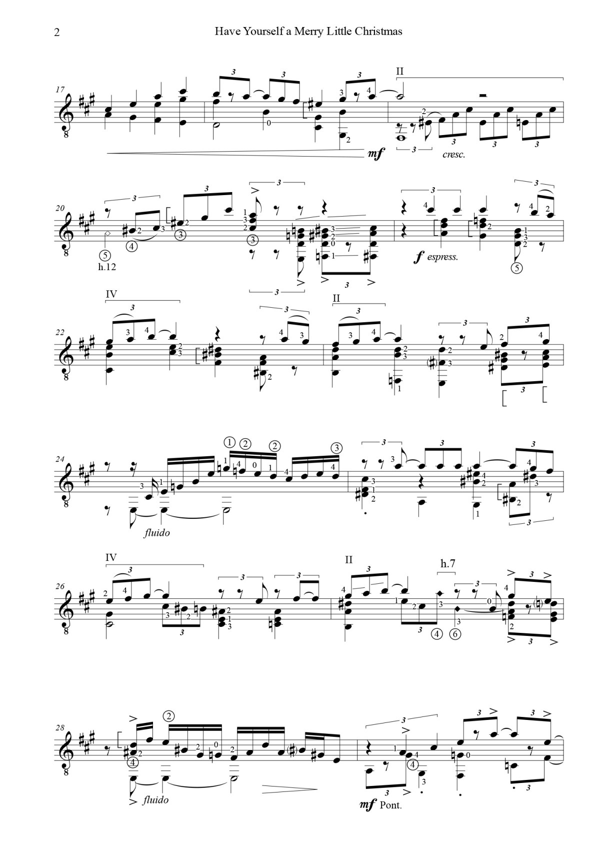 Have Yourself A Merry Little Christmas Lead Sheet.Play Mark Houghton S Dyens Inspired Version Of Have