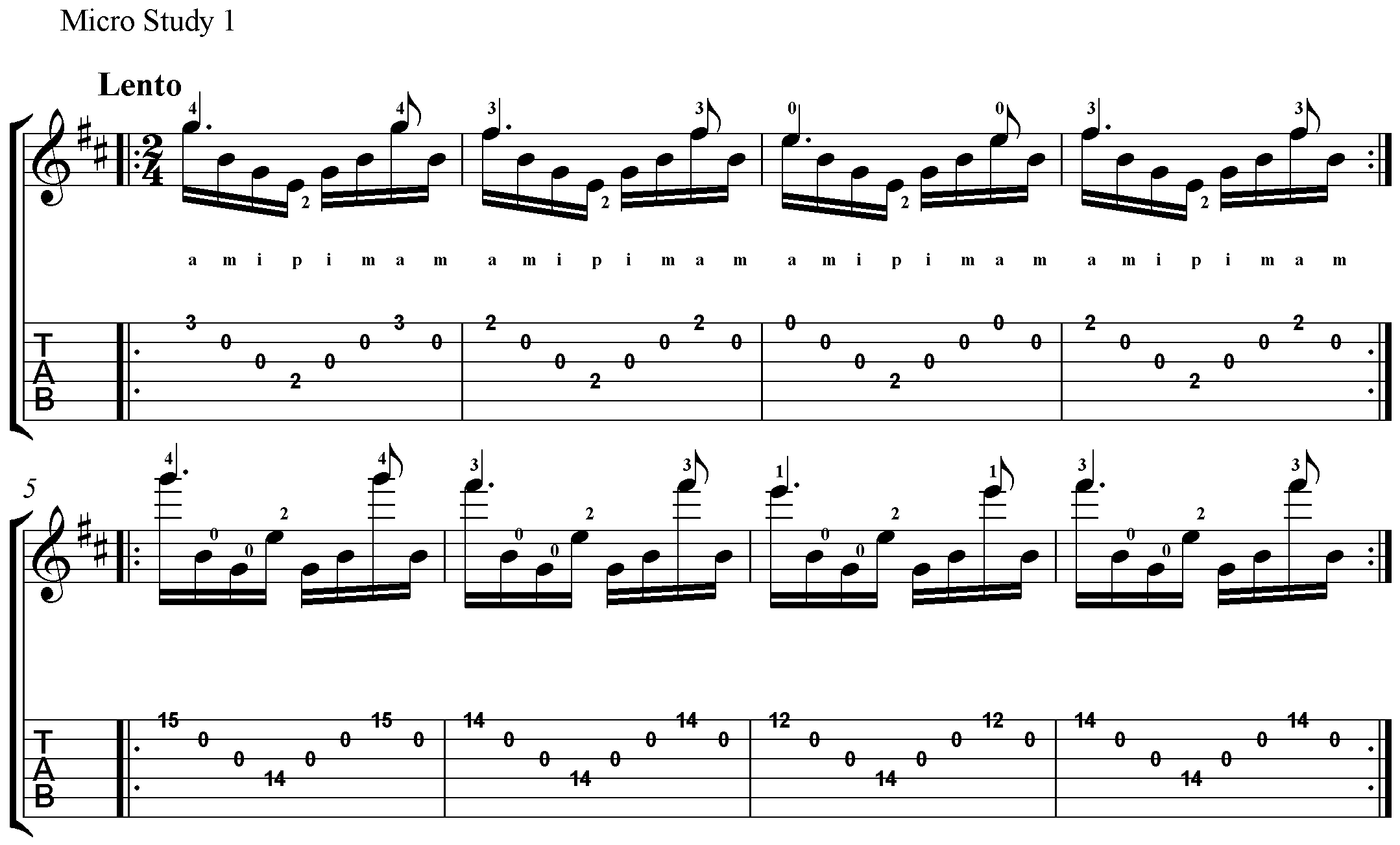 Method: Mastering Barrios' Arpeggios and more with Prelude