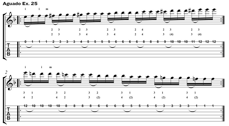 Classical Guitar Method Aguado ex25