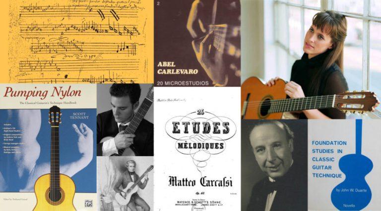 classical guitar favorite methods segovia, tennant, powis, duarte, masters, pujol