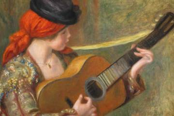 spanish classical guitar painting