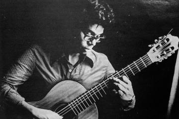 classical guitarist leo brouwer in 1984