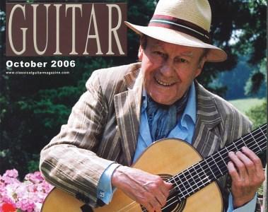 Classical Guitar magazine cover October 2006 Julian Bream