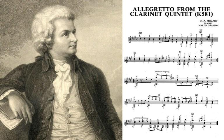 Classical guitar mozart clarinet allegretto