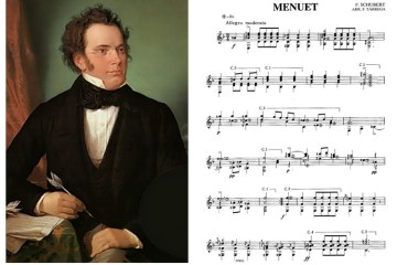 Classical guitar music to play schubert menuet