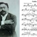 "isaac Albeniz and guitar sheet music for ""Cadiz"""