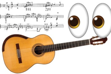 Classical guitar sight reading