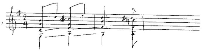 classical guitar forbidden fifths ex 10