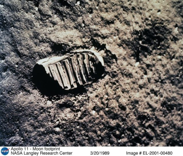 Close to 7 decades would pass before humankind was able to make the long leap from a wind-swept Carolina beach to the Moon's Sea of Tranquillity. NASA Identifier: L89-3405