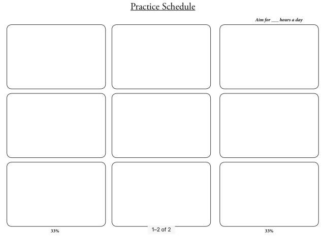 New Year 2019 Practice Schedule Blank