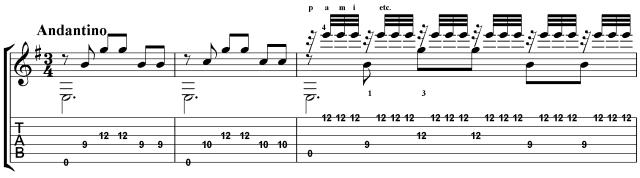 Una Limosna por el Amor de Dios by Barrios classical guitar rocks lesson