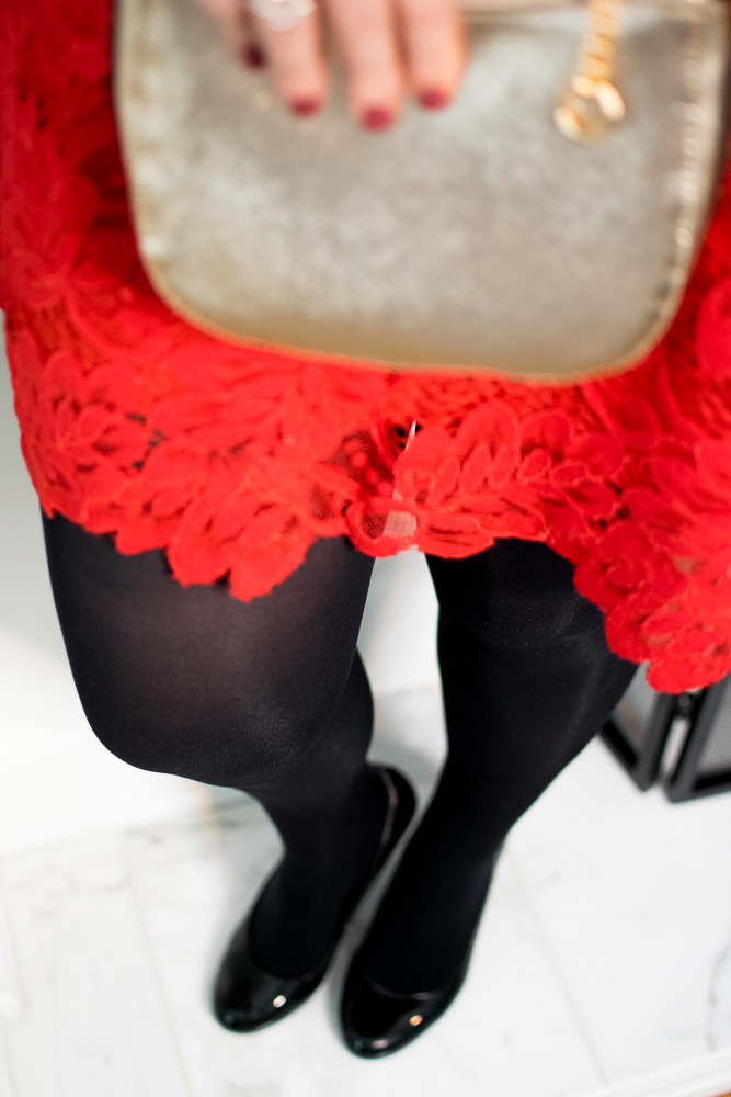 Valentine's Day Dress Code - Black Tights and Shoes