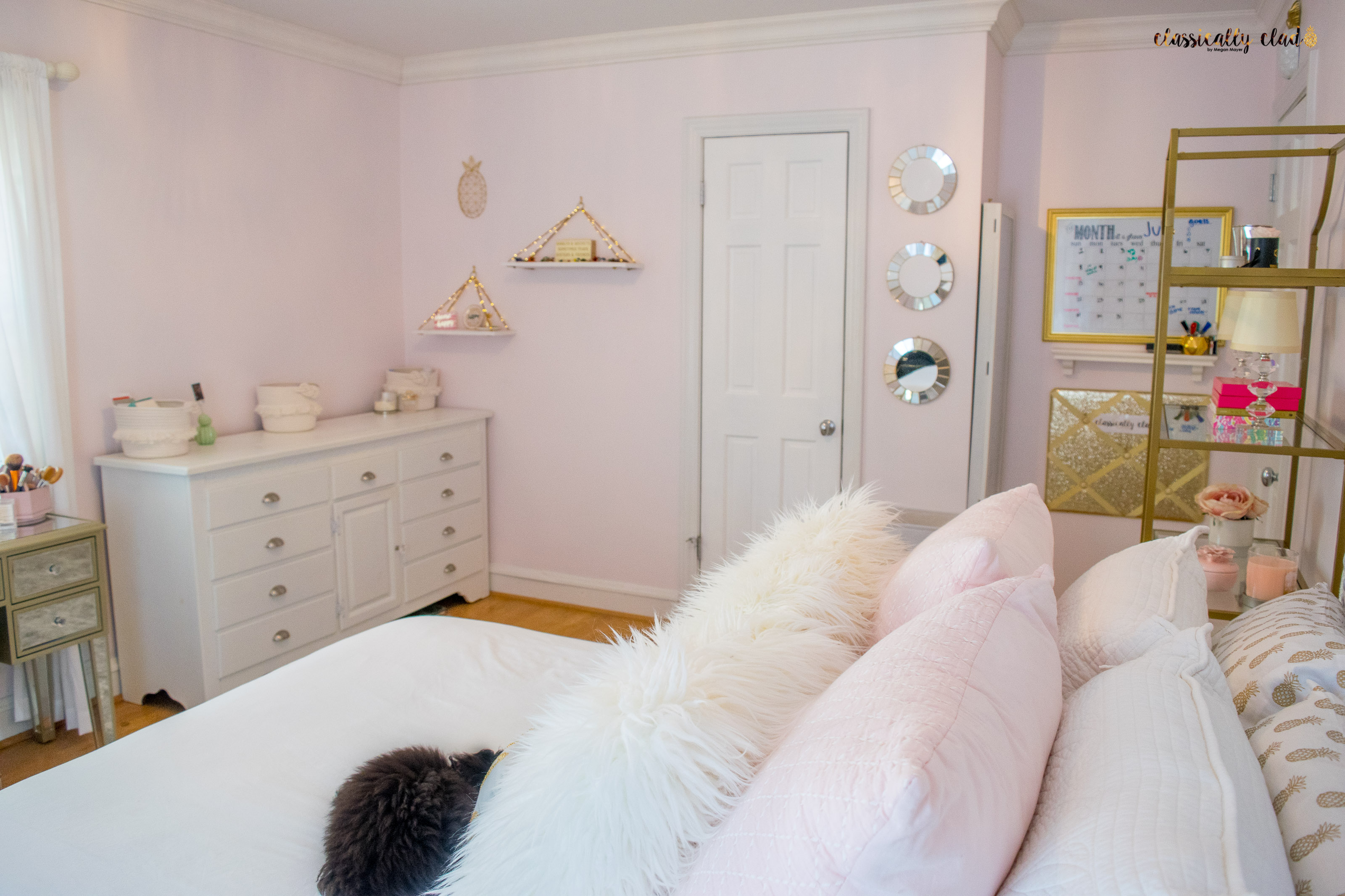 Blush Pink Bedroom Remodel by Megan