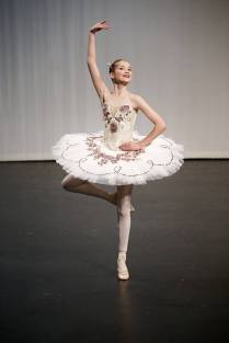 Classical Ballet Tutu - non Stretch - cream and pink