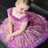 Classical Ballet Tutu - stretch tutu - fushia - full lace overlay