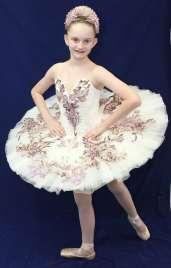 Classical Ballet Tutu - non Stretch - cream and pink