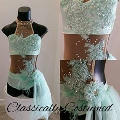 Soft mint green lyrical dance costume