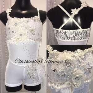 White lyrical contemporary costume