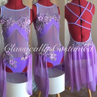 lavender lyrical dance costume, soloist.