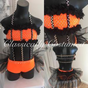 Orange Jazz Dance Costume