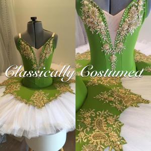 Olive Green and Gold Tutu