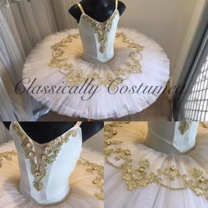 Cream and Gold Stretch Tutu