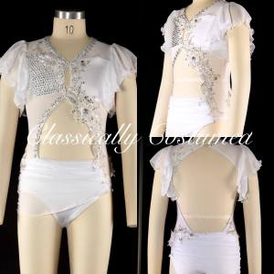 White Lyrical Dance Costume