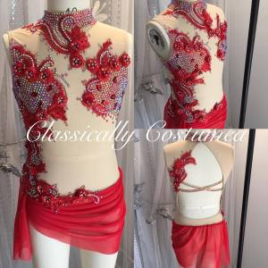 Red Lyrical Competition Dance Costume