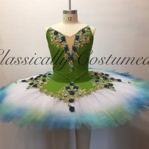 Olive, Teal and Gold Tutu