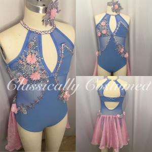 Blue and Pink Lyrical Dance Costume