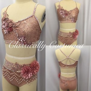 Rose Gold Dance Costume