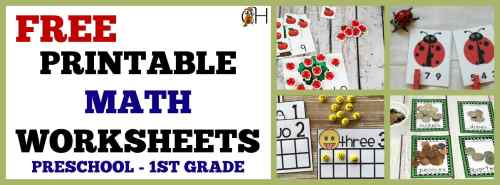small resolution of Free Printable Math Worksheets for Preschool – 1st Grade – Classically  Homeschooling
