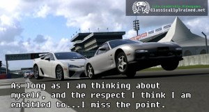gran turismo respect video game quote classically trained