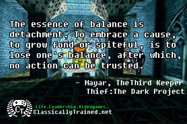 Video Game Quotes: Thief: The Dark Project on Balance ...