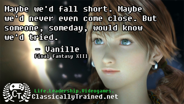 Video Game Quotes: Final Fantasy XIII on Legacy ...
