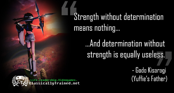 video game quote final fantasy vii 7 strength godo life leadership