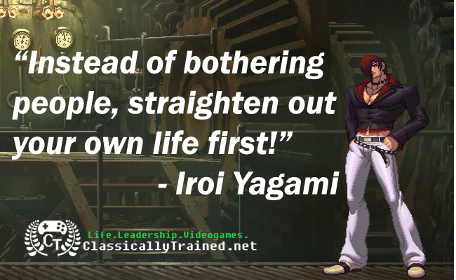 Video Game Quotes King Of The Fighters Xiii On Judgement