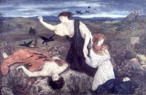 Antigone and her dead brother