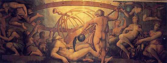 Cronus castrating Uranus