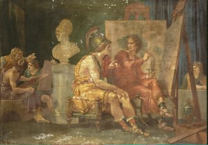 Alexander the Great with Apelles