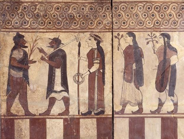 Etruscan art detail