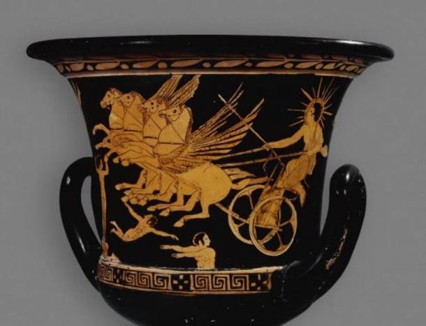 Pottery of the Greek sun god