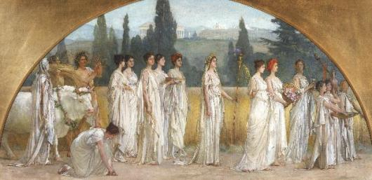 Painting of the Ancient Greek festival