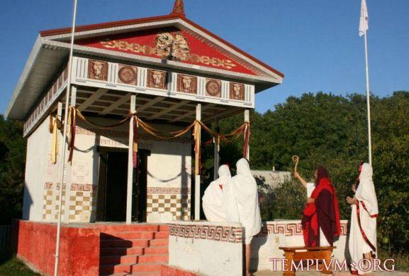 Roman Temple ceremony
