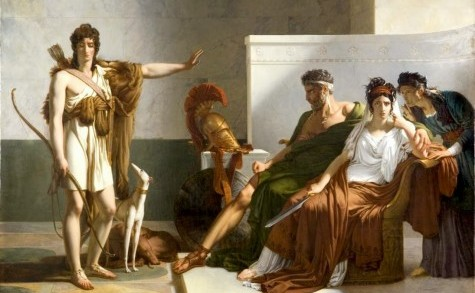 Painting of Theseus and Hippolytus