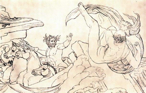 Painting of Poseidon and Ajax